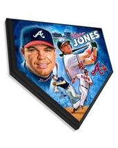 "Chipper Jones Atlanta Braves -11.5"" x 11.5"" Home Plate Plaque  - $40.95"