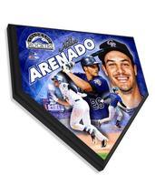 """Nolan Arenado Colorado Rockies - 11.5"""" x 11.5"""" Home Plate Plaque  - $40.95"""