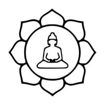 Lotus Buddha Waterproof Vinyl Decal Sticker for Door Windows Wall Table Laptop - $8.66+