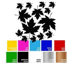 Maple Leaf Fall Plant Decal Vinyl Sticker for Wall Car Window Macbook Laptop - $6.23+