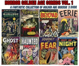 Golden Age Horror Comics Collection on 3 DVDs - FREE Shipping. HORROR - $17.50