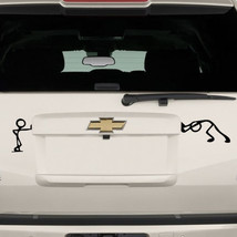 Pushing & Standing Stickman Car Auto window Bumper Trackpad laptop Decal... - $4.40+