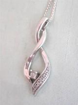 STERLING SILVER INTERTWINED PENDANT W/ DIAMOND ... - $38.00