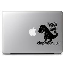 Tyrannosaurs Rex Dinosaur for Mac Air/Pro 11 13 15 17 Laptop Vinyl Decal Sticker - $7.79