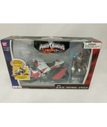 Power Rangers SPD Red Patrol Cycle w Ranger BanDai New Sealed 2004 S.P.D. - $59.39