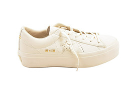 Converse Womens Chuck Taylor All Star Platform Sneakers Egret White Size... - $134.74 CAD