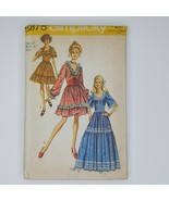 Simplicity 8875 Sewing Pattern  Misses Dress SIze 14 Vintage 1970s - $12.86