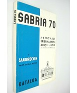 Sabria 70 National Stamp Exhibition Catalog Saarbrucken Germany April Ma... - $10.88