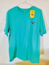 Tommy Bahama Starting Pitcher Geiser Blue Graphic T Logo Spell-out Men's Size M  - $28.47