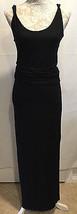 Tahari Long Black Slit Women's Sleeveless Full-Length Dress Size XS TP - $29.99