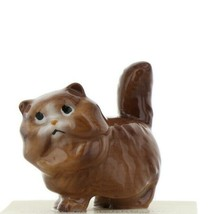 Hagen Renaker Miniature Cat Fat Brown Ceramic Figurine