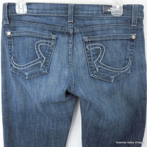 Rock & Republic Womens Size 28 Denim Blue Jeans Sandra 31X31 Boot Cut - $17.05