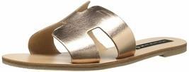 Steven by Steve Madden Greece Flat Sandals Slides Rose Gold Leather Size 9.0 - $76.40