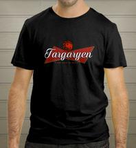 Targaryen Beer logo Fire and blood Game of Budweiser Unisex Black T-shir... - $17.90