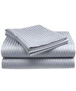Twin Size Silver Classic Sateen Dobby Stripe Sh... - $21.24