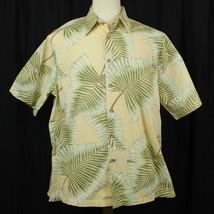 Cooke Street Honolulu Palm Camp Aloha Button Hawaiian Shirt Men Sz L EUC - $22.44