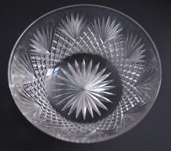 American Brilliant Period Cut Glass finger bowl strawberry diamond Antique  - $26.80