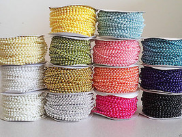 3mm Pearl Trim String Bead Accent for Crafting, Scrapbooking, Decoration - $5.69
