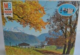 1978 MB Big Ben Series ~ Bavarian Alps ~ 1000 pc Puzzle Autumn Mountains ~ New - $29.95