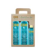 Farouk CHI Aloe Vera Curl Care Kit Shampoo Conditioner Agave Oil - $45.24