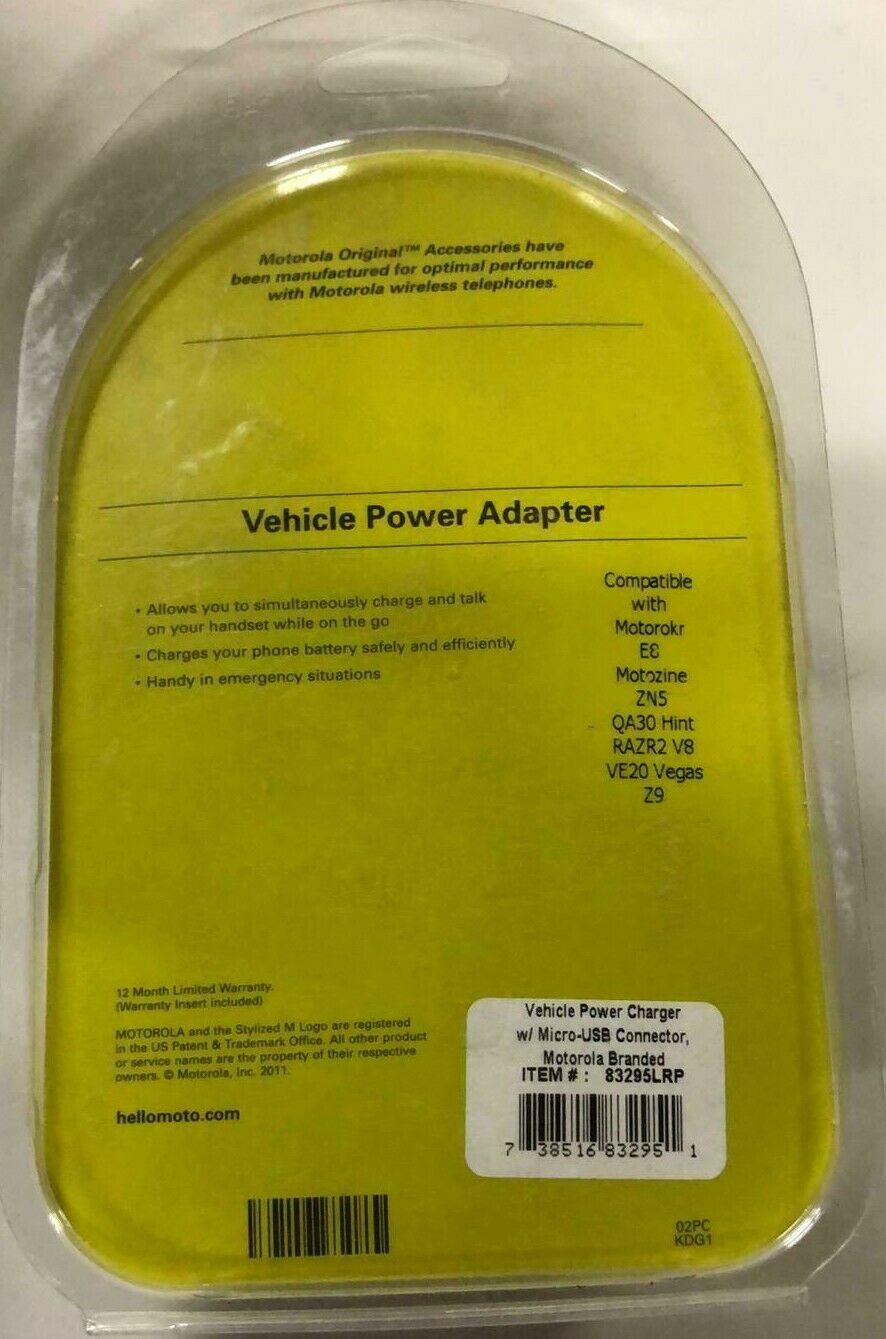 Motorola Charger for Motorokr E8, Motozine ZN5, QA30 Hint, RAZR2 V8, & VE20