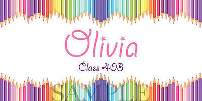 Pencil School Sticker - Personalized and Waterproof for Back to School!