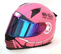 Masei 850 Matt Pink Zaku Gundam Motorcycle Helmet  image 2