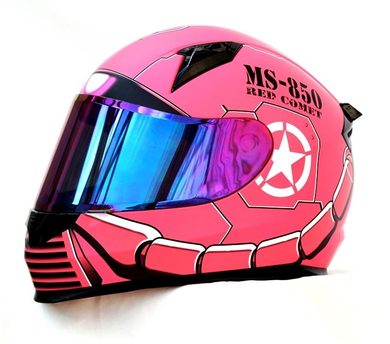 Masei 850 Matt Pink Zaku Gundam Motorcycle Helmet