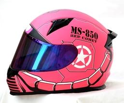 Masei 850 Matt Pink Zaku Gundam Motorcycle Helmet  image 3