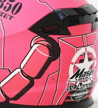 Masei 850 Matt Pink Zaku Gundam Motorcycle Helmet  image 5