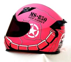 Masei 850 Matt Pink Zaku Gundam Motorcycle Helmet  image 4
