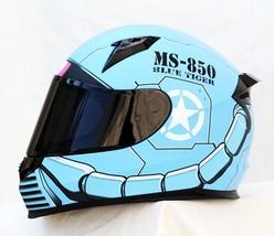 Masei 850 Matt Blue Zaku Gundam Motorcycle Helmet  - $499.00