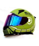 Masei 850 Matt Green Zaku Gundam Motorcycle Helmet  - $499.00