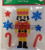 Winter Gel Window Clings ~ Toy Soldier, Snowflakes, Candy Canes, & Stars... - $5.50