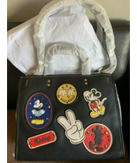 NWT Disney X Coach Mickey Mouse Patches Rogue Bag Black 69183 - $1,600.00