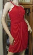 David's Bridal Dress Red Cherry Beaded Dress size 8 (F19112) - $34.64