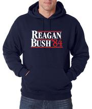 REAGAN BUSH 84 Retro Pullover Hoodie Ronald and George Republican Electi... - $24.21+