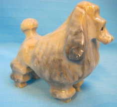 "Poodle Dog Figurines Carved Stone Show Clip Heavy 3"" Tall Gray Gifts  - $22.99"