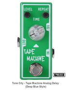 Tone City Tape Machine Delay TC-T4 EffEct Pedal Micro as Mooer Hand Made True By - $68.00