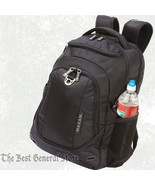 """Black Polyester 19"""" Executive Backpack with Padded Laptop Compartment an... - $48.99"""