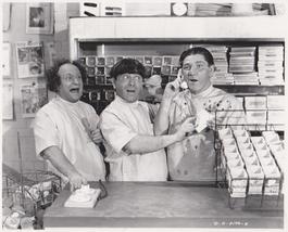 3 Stooges Light Bulbs Moe Larry Shemp 154 Vintage 8X10 BW TV Memorabilia Photo - $5.99