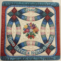 Seasons Of Home Quilt Plate Love Makes A House A Home June Bradford Exchange - $49.45