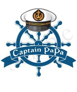 Fathers Day Boating Iron-Ons - Personalized Nautilus Themes - Set of 2 - $4.00+
