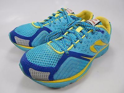 Newton Distance S III 3 Women's Running Shoes Size US 7 M (B) EU 38 Blue Yellow