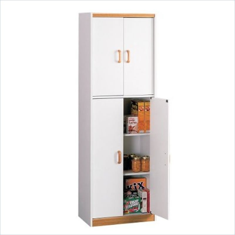 Food Pantry Cabinet With Doors Oak Tall Storage Kitchen Organizer Shelf Cupboard Cabinets