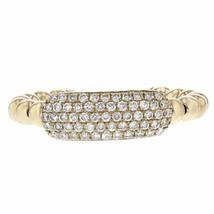 0.39ct Round Cut Diamonds 14k Yellow Gold Midi Ring One Size - £384.64 GBP