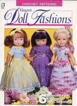 "Elegant Doll Fashions 6 Designs for 19 & 20"" Dolls Crochet Pattern Leaflet RARE - $6.27"