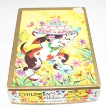 9 VINTAGE CHILDREN'S BIRTHDAY CARDS UNUSED WITH PUZZLES - $70.13