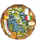 Rustic 3D  Map Plate of Italy - $14.00