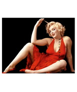 Marilyn Monroe Vintage in Red 13 x 10 inch Beautiful Pinup Giclee CANVAS Print - $19.95